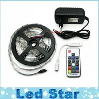 12V Led Flexible Strips Light Kit 5050 RGB Chaud Froid Blanc Led Strip IP65 / IP20 + RF / télécommande + 12V 3A Alimentation