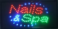 Wholesale Neon Signs Nails - 2017 new design arriving customized led NAILS SPA signs neon NAILS SPA signs size 10*19 inch