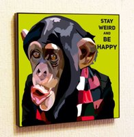 Wholesale Monkey Wall Quotes - Monkey Painting Decor Print Wall Art Poster Pop Canvas Quotes Decals
