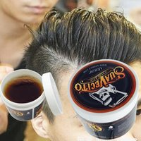 Wholesale Hair Styling Tools For Men - Hot selling Retro Strong Hold Style Hair Pomade Wax Oil Mud Gel For Men Styling Hair Tools