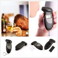 Wholesale Alcohol Analyser Tester - Wholesale-Smart LCD Digital Breath Alcohol Tester Breathalyzer Analyser Detector Test Keychain Tools For Car Safety NEW