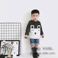 Wholesale Kids Panda Sweater - Toddler kids knitting sweater Baby girls boys cotton embroidery panda pullovers Autumn Winter Infants long sleeve jumpers Kids clothes C2294