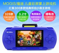 Wholesale 16 Bit Handheld Game Console - 16 bit 3.2 inch game console color handheld game player for kids with bulit in games 2014 free shipping
