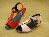 yüksek topuklu dans ayakkabıları toptan satış-2016 yaz Çocuk Ayakkabıları yüksek topuklu Kore T-versiyonu dans ayakkabıları kız ayakkabı Erkek Ayakkabıları Boyutu 26-30 1 grup = 5 pairs