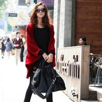 Wholesale Long Blouse Wholesale - Wholesale- Cardigan Women 2016 Fashion Poncho Crochet Knit Tops Thin Blouse Long Sleeve Cardigans Sweater Women Jacket Coat Female Slim