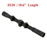 Wholesale Telescopic Sights For Air Rifles - 4X20 Air Rifle Telescopic Scope Sights Riflescopes Hunting Scopes Riflescope for 22 Caliber Rifles and Airsoft Guns