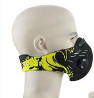Wholesale blue gold filter - Basecamp Outdoor Smog Masks Sports Cycling Mask Neoprene Half Face Mask For Women And Men Bike Masks Filter Mascaras Ciclismo