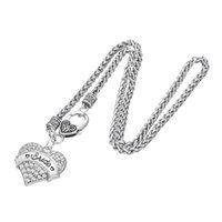 Wholesale Bridesmaid Gifts Bride - Wedding Jewelry Crystal Heart Pendant Necklaces BRIDE and BRIDESMAID Pendant Necklace Stainless Steel Necklace