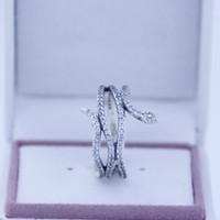 zirconia silberner schlangenring großhandel-925 sterling silber ringe Schlange silber ring mit zirkonia Fit für pandora charms schmuck frauen DIY mode Finger Ring 2016 neueste