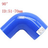 """Wholesale Elbow Reducer Hose - Blue Samco ID:51mm-70mm ID:2""""-2.76"""" Silicone 90 Degree Elbow Reducer Turbo Pipe Hose Air Intake Pipe Intercooler silicone pipe Universal"""