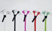 Wholesale Headphones For Iphone Price - Zip in-ear 3.5mm earphone with mic metal buds zipper headset headphone for iphone 6 plus Samsung s6 s7 J5 best price