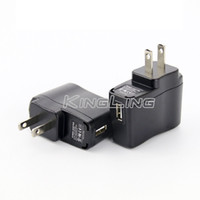 Wholesale Ego Wall Adapter Usa - EGO Wall Charger Black USB AC Power Supply Wall Adapter Adaptor MP3 Charger USA Plug work for EGO-T EGO 510 Thread Battery