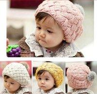 Wholesale Kids Red Beret - 100% Cotton Apple Cake Berets Fashion Sweet Hats Kids Knitted Hat 10pcs lot Free Shipping