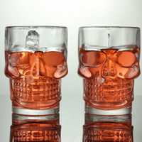Wholesale Skull Beer Mug Glass - Skull Wine Cup Thickening 500ML Transparent Glass High Quality Bar Special Purpose Mug Creative High Grade Gift For Friends 5 51yq J R
