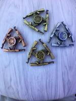 Wholesale Tri Gun - Submachine gun spinners metal Hand Fidget Spinner Gyro HandSpinner Fingertips Fingers Fidget Tri-spinner EDC Toys Gifts 2017