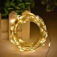 10M 100leds LED Light String fil d'argent DC 12V Fairy Lights Noël Nouvel An Décoration de mariage Lights