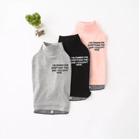 New Style All Seasons Felpa con cappuccio con zip Letter In Steel in acciaio GreyPure Cotton Small Dog Black Grey Pink