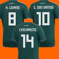Wholesale G R - Thailand Camisa Mexico soccer jersey 2018 CHICHARITO R MARQUEZ G DOS SANTOS H LOZANO world cup football shirt jersey camisetas de futbol