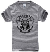 Wholesale Black Magic Costume - Hot Sale men t shirt harry potter hogwarts print shirts unique design harry potter costume cool magic school hogwarts t-shirt