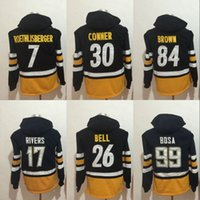 Wholesale Philip Rivers - Men Hoodies 7 Ben Roethlisberger 17 Philip Rivers 26 Le'Veon Bell 30 James Conner 84 Antonio Brown 99 Joey Bosa Hoodies Jerseys Sweatshirts
