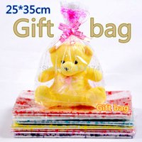 Wholesale Plastic Gift Bag 25 35cm - 25*35cm 200pcs Plush dolls bag gift bag   transparent bag  Plastic gift pouchs