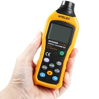 Wholesale Digital Tachometer Tester - Wholesale-HYELEC MS6208B Non-contact LCD Digital Tachometer Test Meter Air Flow Speedometer Tester for Industrial Agricultural