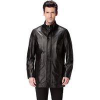 Wholesale Best Leather Jackets - Best Seller leather jacket,Genuine Leather,Mandarin Collar,Sheepskin,Leather jacket men,mens leather jackets and coats