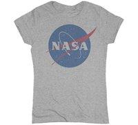 Wholesale Discovery Short - Wholesale-New 2016 Summer Women's T Shirt Fashion NASA T-Shirt Camisetas nasa Shirt Discovery Apollo Astronaut Top Tee Gift Free Shipping