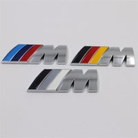 Wholesale Bmw Series Tail - Chrome Car Decals for BMW E46 E60 M Power Series Logo Car Stickers for BMW M5 M6