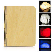 Wholesale Folded Paper Books - USB Rechargeable Wooden Folding LED Night Light Book Light 2500mAh Lithium Batteries Desk Lamp Up To 8 Hours Usage Magnetic Table Lamp