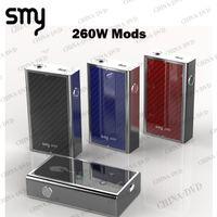 Wholesale Carbon Fiber Cube - Authentic Smy 260W Box Mod 18650 Carbon Fiber Smy260 VV VW Vape Mods with PCB Board Temp Checker Vs SMOK X cube 2
