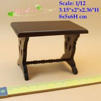 Wholesale Furniture End Tables - 1:12 Scale Dollhouse Miniature End Table Side Stand Doll House Living Room Furniture Doll Houses Wood Side Stand Doll House accessory