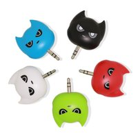 Batman cartoon headset splitter in drei teilen 3,5mm universal headset deconcentrator paar