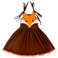 Cute Cartoon Girl Dress, Halloween Fox cotone dei vestiti per bambini, Estate Girl Dress 2016 Infantil costume, abbigliamento per bambini