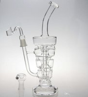 Wholesale free stack - 2016 New bongs Glass Sundae stack Glass oil rigs water pipes thick and sturdy heavy bases glass with two accessories