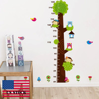 CAH010 - Croissance Wall Stickers DIY Enfants Wall Sticker Arbre Vinyle Stickers Muraux Decal Taille Amovible US STOCK