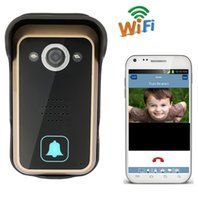 Hot inalámbrico WiFi IP Video puerta teléfono intercomunicador timbre cámara Peehole PIR IR visión nocturna de alarma Android IOS Smart Home