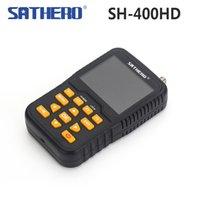 Wholesale Lcd S2 - 2pcs Sathero SH-400HD 3.5 inch LCD Screen DVB-S2 & DVB-S Signal Finder Support 8PSK 16APSK Digital Meter Sathero 400HD