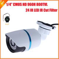 ir câmera de bala ip66 venda por atacado-1/4 '' CMOS CCTV Câmera 800TVL Real 960 H IR IP66 À Prova D 'Água Indoor / Exterior Bala de Segurança Câmera IR Cut Filtro Grande Nightvison