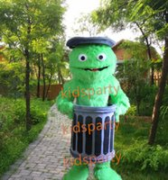 Mascot Costumes oscar the grouch - Customized Sesame Street Oscar The Grouch Mascot Costume Mascot Adult Character Costume Fancy Dress