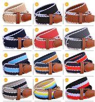 Wholesale Wholesale Elastic Belts For Women - New Arrivals 2016 brand designer belts mens designer belts luxury belts for men women Stretch woven elastic belt 12colors unisex