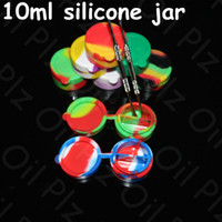 Wholesale Toys Water Pipes - 42mm Silicone Jars Wax Silicone Containers Dab Conjoined Silicone Jars Dab Wax Vaporizer Oil Container nectar collector water pipe