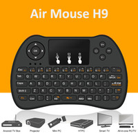 Air mouse Controle remoto H9 Mini Wireless Handle do jogo Touchpad Teclado e mouse para o projetor Android All-in-one PC Smart TV Boxes