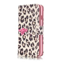 Wholesale 3d Case Iphone Leopard - 3D Relief Leopard Dog Feather Flowers Leather Wallet 9 Card Slots Holder cover case for iPhone 7 plus 6 6s plus note7