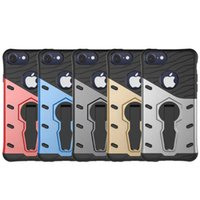 Wholesale I Phone Case Hybrid - Armour Phone Case For Iphone 7 Iphone7 Plus I Phone7 Ipone 7 Cover Original Silicone Mix Hybrid Protective Shell Coque Fundas