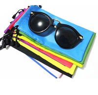 Wholesale High quality cm waterproof sunglasses pouch soft eyeglasses bag glasses case many colors mixed