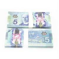 Wholesale Types Money Plants - Canada $5 Dollar Training Collect Learning Banknotes 100pcs Paper Money