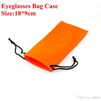 Wholesale Glasses Case Holder - Soft Eye Glasses Sunglasses Bags Cell Phone Carry Dust Pouch Case MP3 MP4 GPS PDA Holder Bags 100pcs 18*9cm Eyewear Accessories