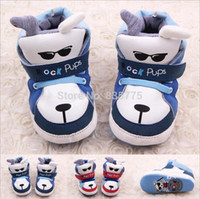 Wholesale Shoes Baby Dog - Wholesale- 2015 New Hot Newborn Baby Boys Girls Kids Shoes Cute Cartoon Rock Dog Pups Infant Toddler Prewalker Cotton Padded Shoes Boots