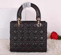 Wholesale Original Quality Lady CD9601 Lambskin Top Handles and Tote Bag Woman Shoudler bags Zip Closure